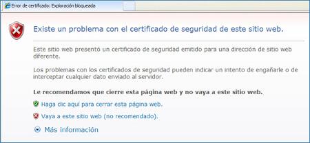 Captura d'avís d'Internet Firefox