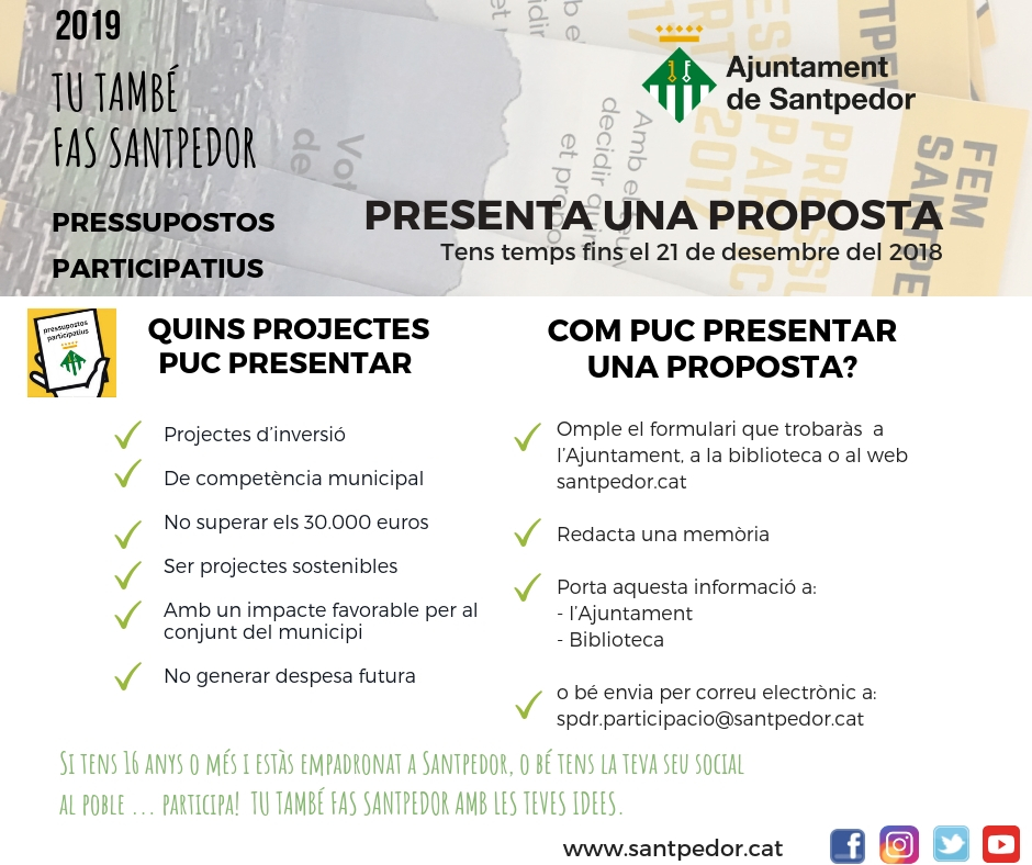 Presentació propostes