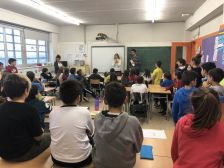 Visita a l'escola Riu d'Or